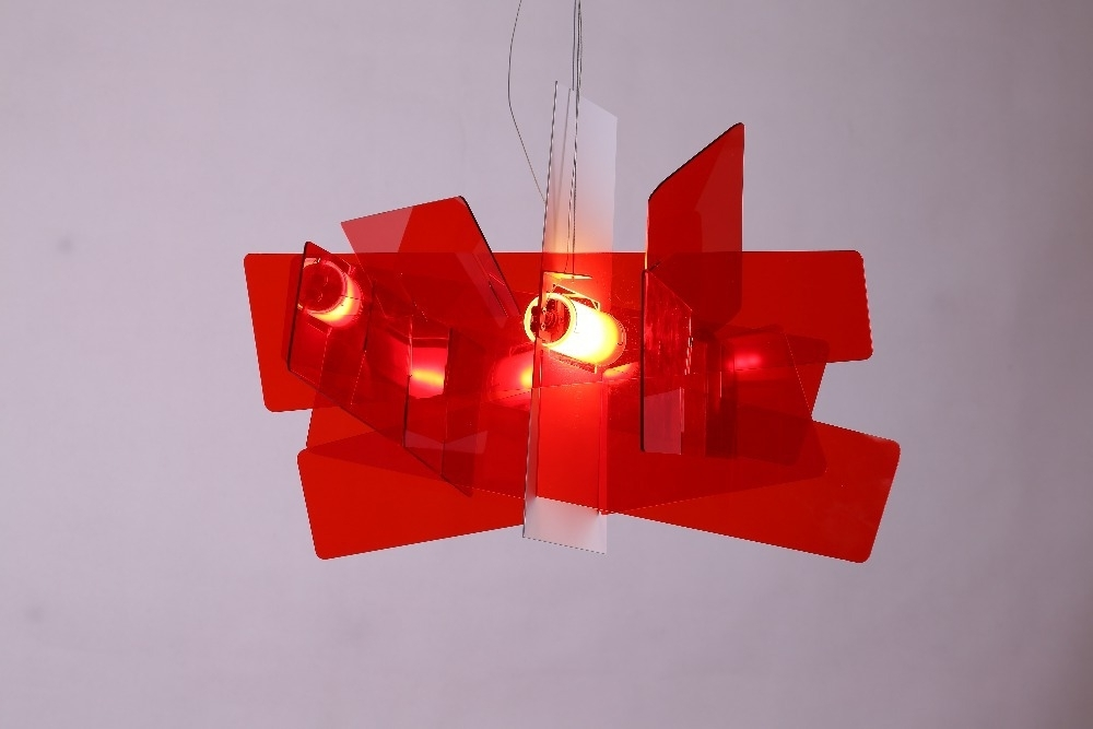 Widely Used Modern Red Chandelier Throughout D65Cm/95Cm Modern Foscarini Big Bang Stacking Creative Modern (View 10 of 10)