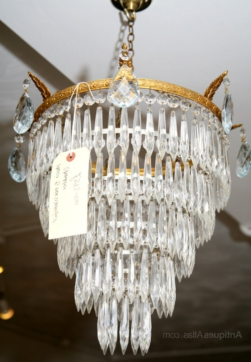 Widely Used This Is A Good Mid Sized Waterfall Chandelier Dating From 1930's In Waterfall Chandeliers (View 4 of 10)