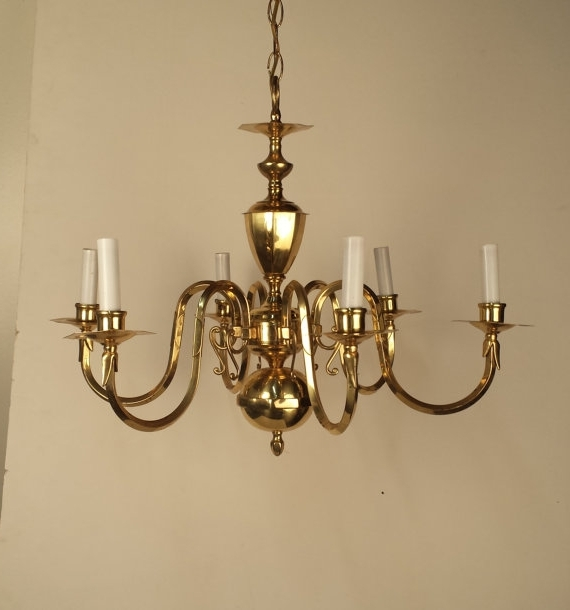 Widely Used Vintage Brass Chandelier Small 6 Arm Gold With Regard To Modern Inside Vintage Brass Chandeliers (View 10 of 10)