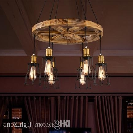 Wooden Chandeliers Inside Newest Pendant Lights Creative Wooden Chandelier Lamps Personalized (View 2 of 10)
