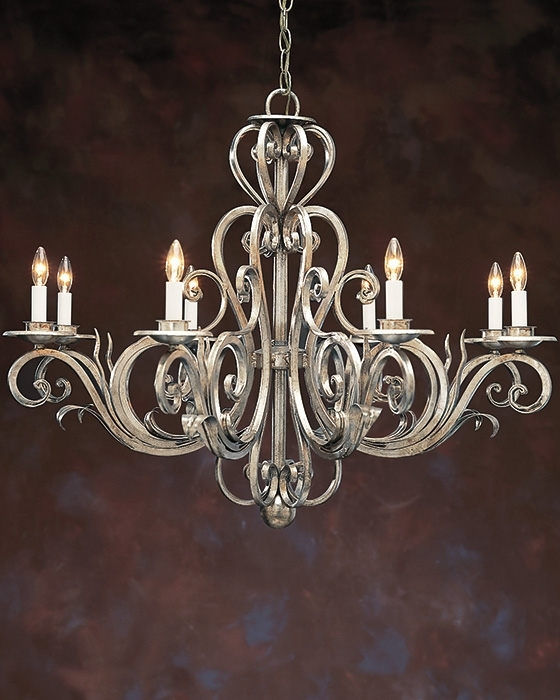 Wrought Iiron Chandelier And Hand Wrought Iron Chandelier Regarding 2017 Metal Chandeliers (View 10 of 10)