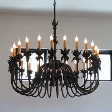 Wrought Iron Chandeliers Pertaining To Well Liked Wrought Iron Lighting & Chandeliers, Mission Lighting, Spanish (View 8 of 10)