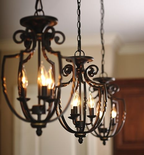 Wrought Iron Chandeliers (View 9 of 10)