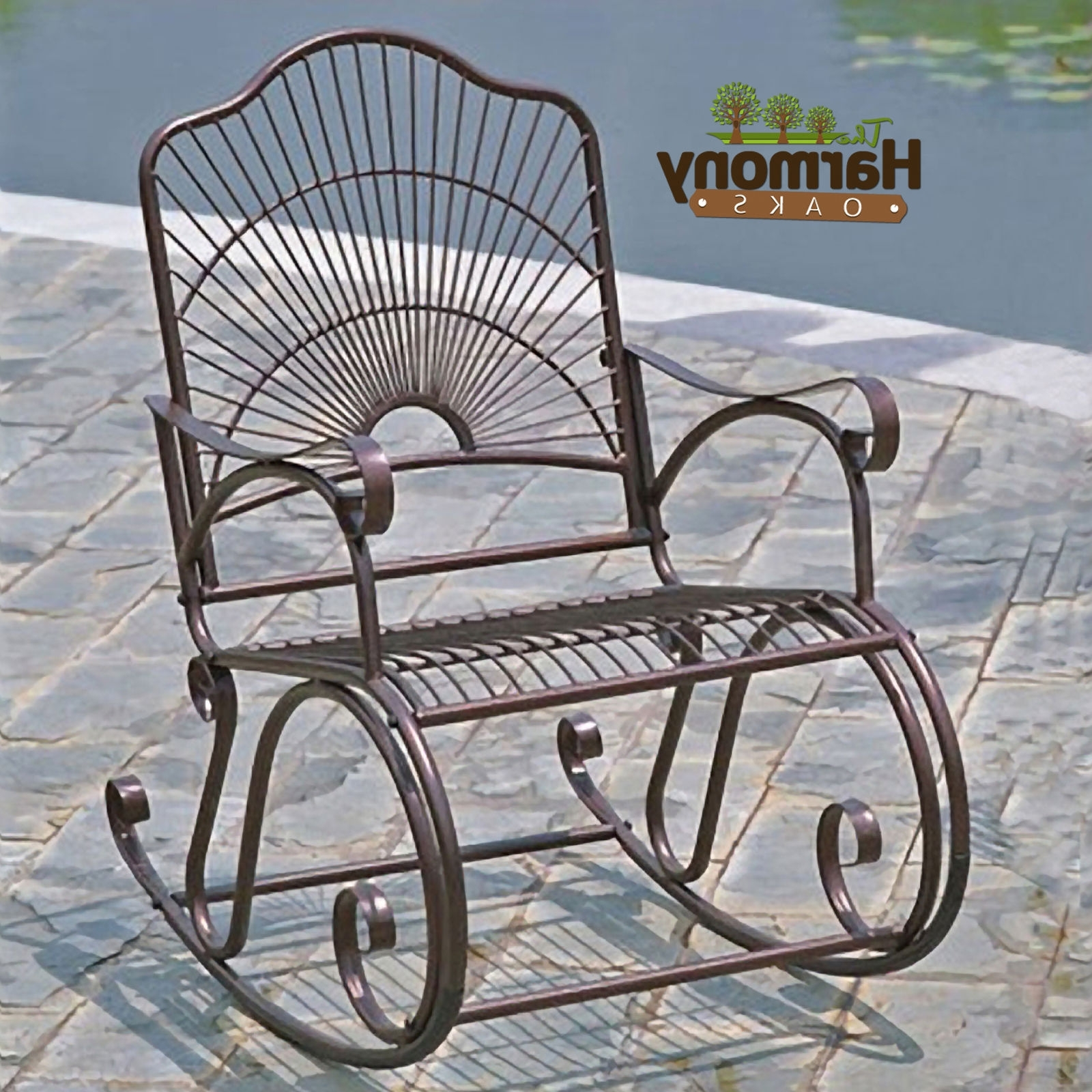 2017 Iron Rocking Patio Chairs Pertaining To Astounding Metal Patio Rocking Chairs Fresh Home Security (View 2 of 15)