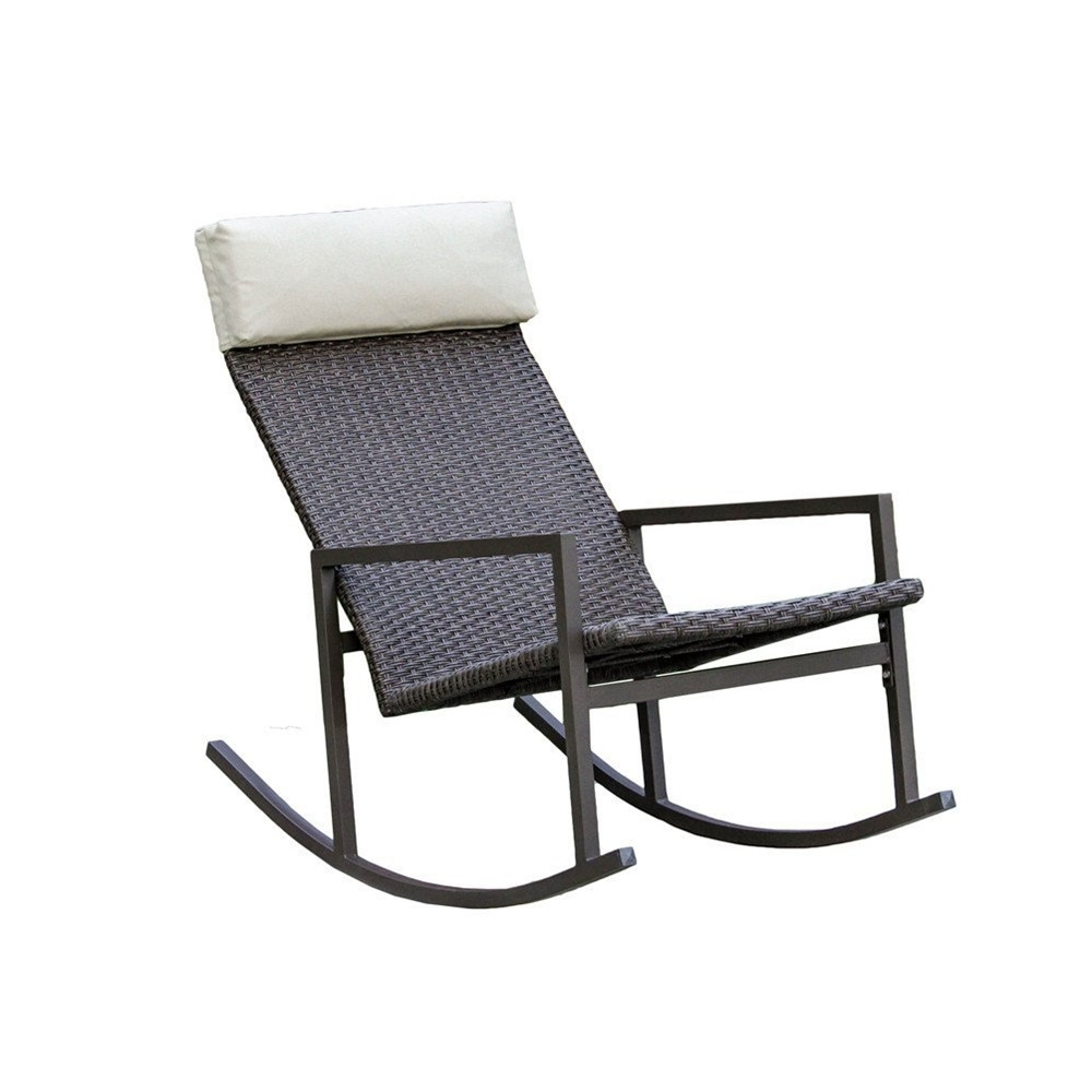 2017 Living Express Stone Harbor Outdoor Rattan Wicker Rocking Chair With Regard To Rattan Outdoor Rocking Chairs (View 6 of 15)