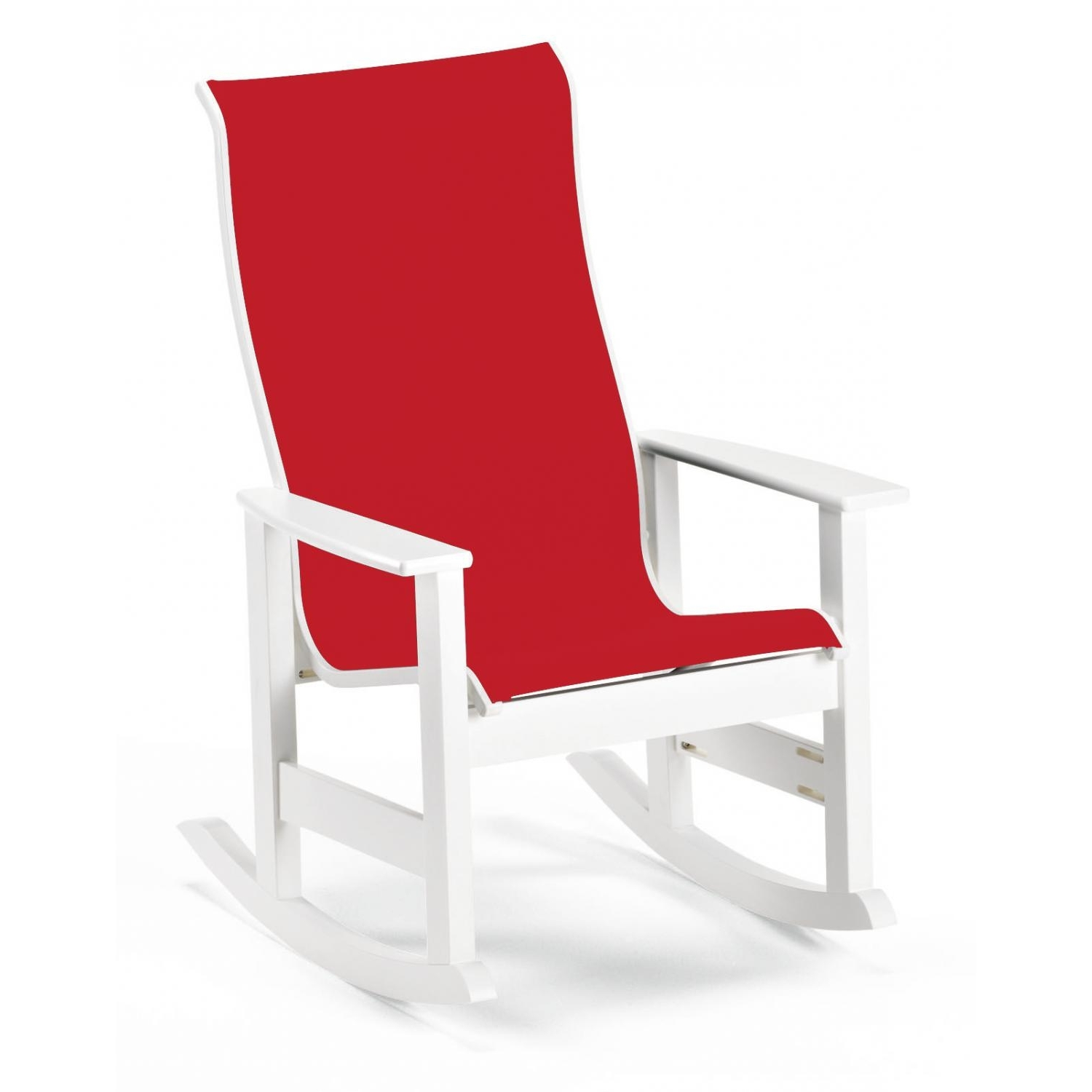 2017 Red Patio Rocking Chairs Pertaining To Leeward Supreme Mgp Patio Rocking Chair With Sling Seating (Gallery 14 of 15)