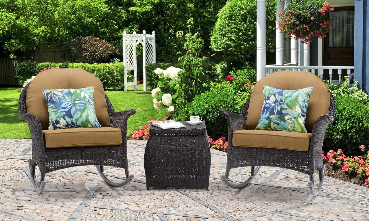 2017 Wicker Rocking Chairs And Ottoman Inside 3 Tips For Buying Outdoor Rocking Chairs – Overstock (View 4 of 15)