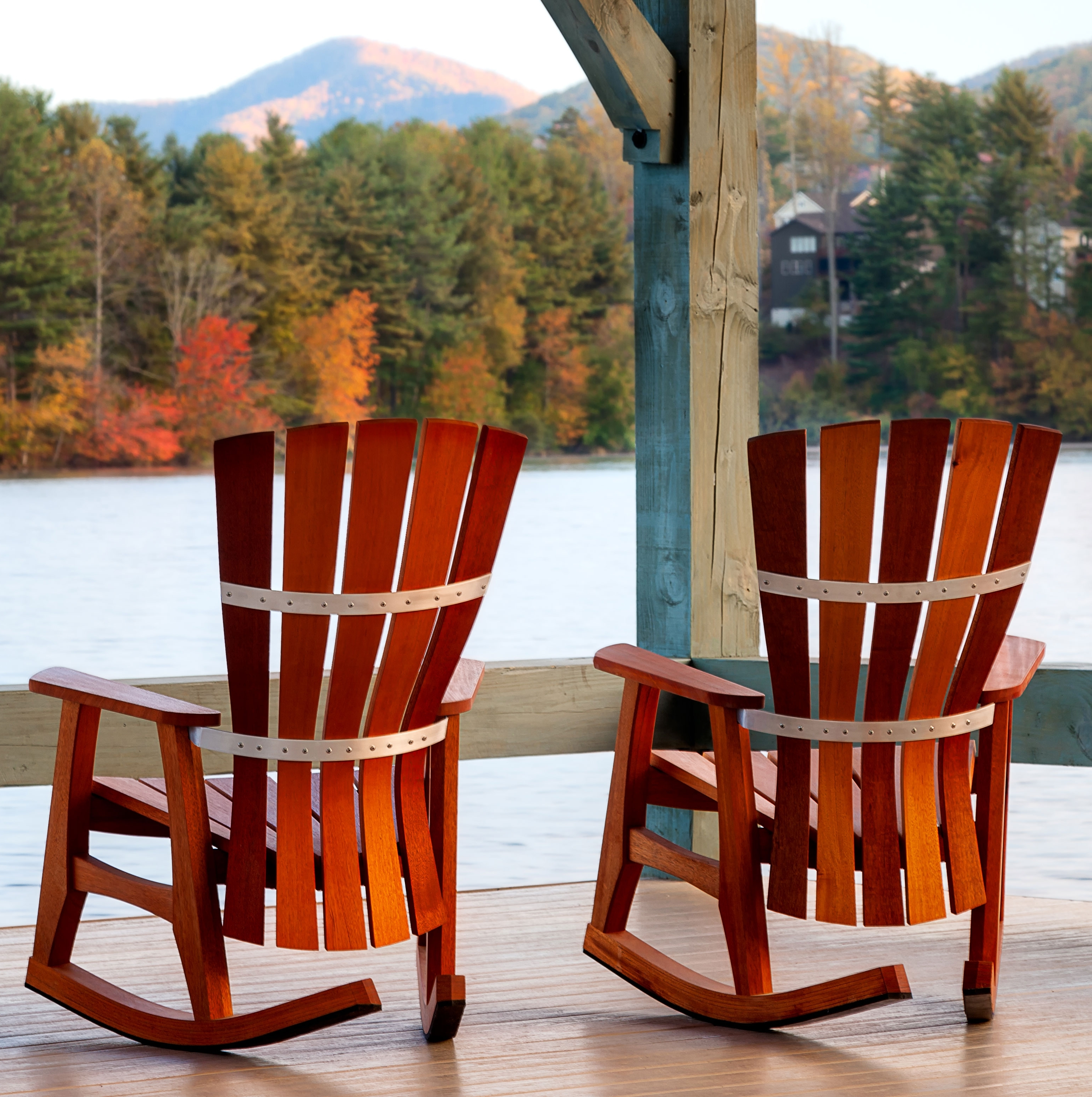 2018 Patio Furniture Rocking Chair Fibreglass Iron And Birch Material Intended For Outside Rocking Chair Sets (View 2 of 15)