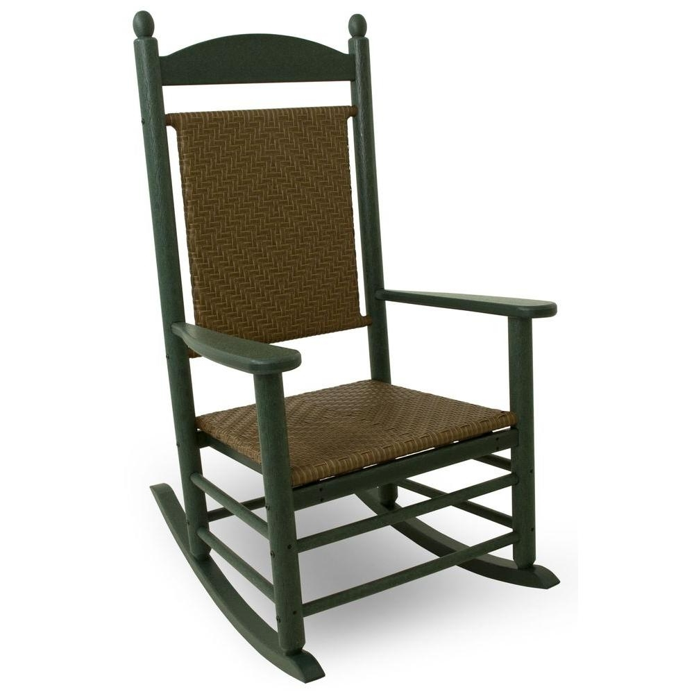 2018 Rocking Chairs – Patio Chairs – The Home Depot With Regard To Patio Rocking Chairs With Ottoman (View 1 of 15)