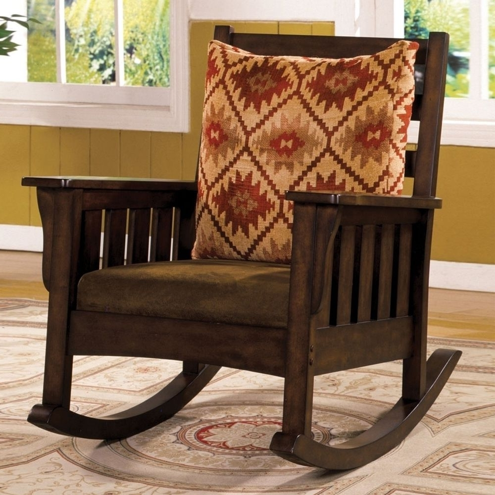 2018 Rocking Chairs With Cushions Regarding Morrisville Mission Rocker Rocking Chair Removable Fabric Cushion (View 1 of 15)