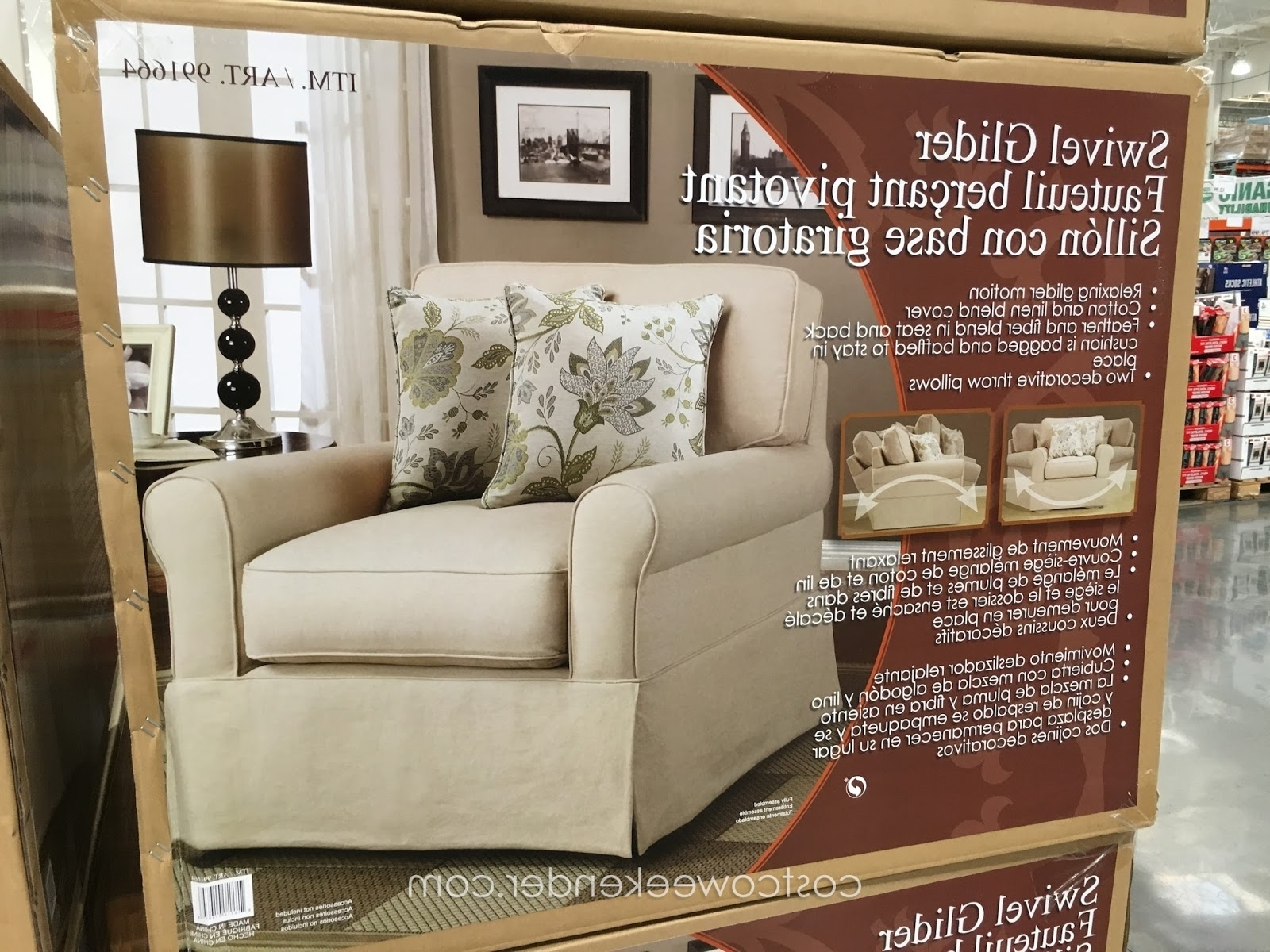 2018 Synergy Swivel Glider Chair Weekender Rocking Chairs Includes Throw For Rocking Chairs At Costco (View 3 of 15)