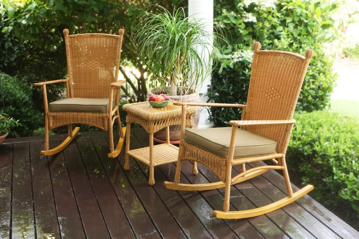 2018 Tortuga Outdoor Portside Classic 3Pc Rocking Chair Set – Southwest Intended For Wicker Rocking Chairs Sets (View 3 of 15)