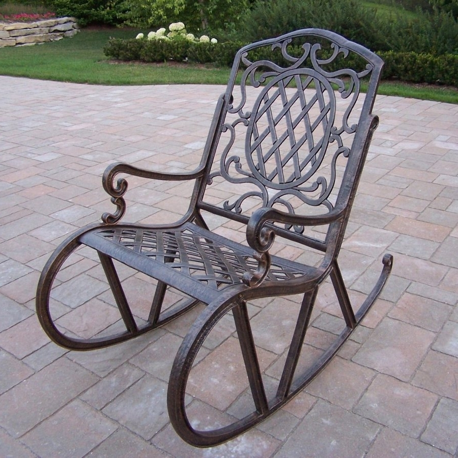 Featured Photo of Aluminum Patio Rocking Chairs