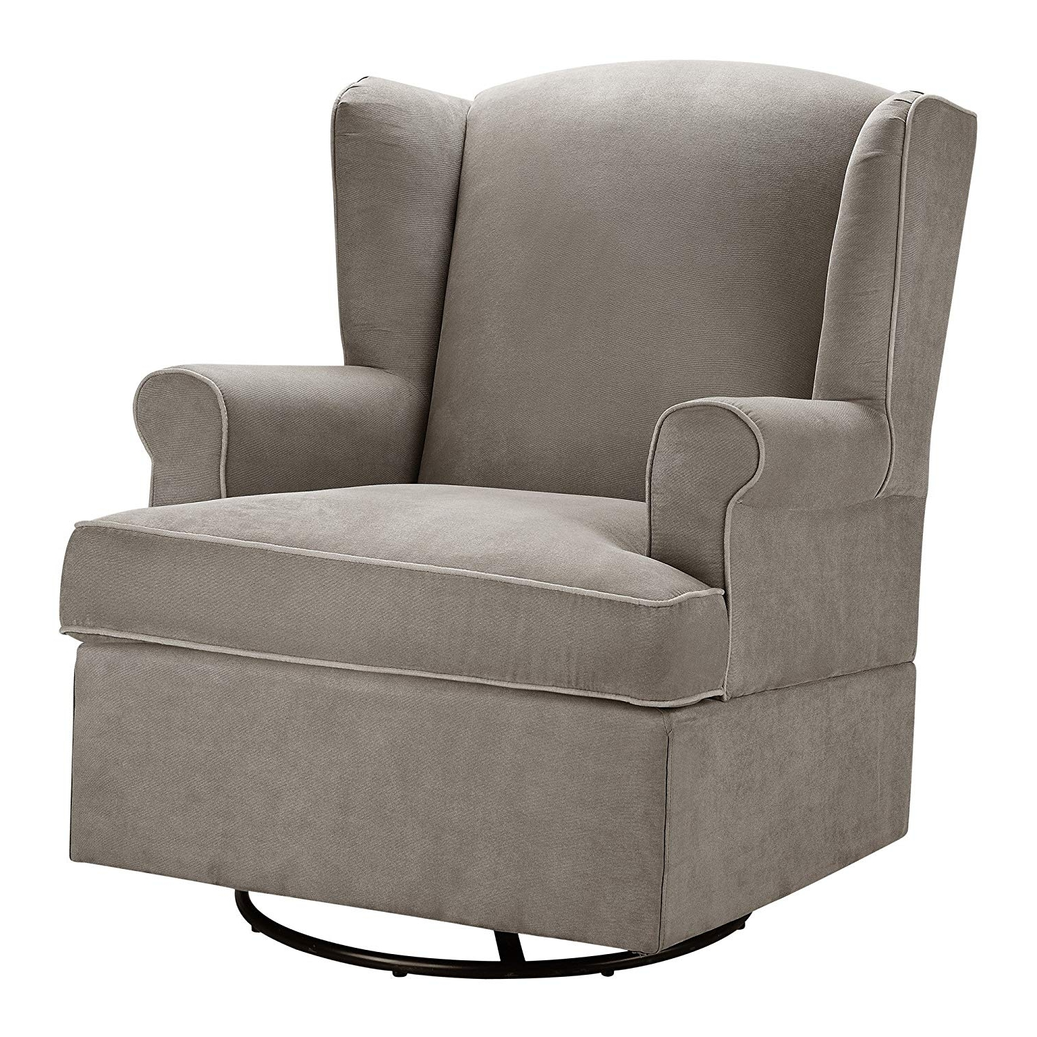 Amazon: Baby Relax Swivel Glider, Dark Taupe: Baby For Current Swivel Rocking Chairs (View 4 of 15)