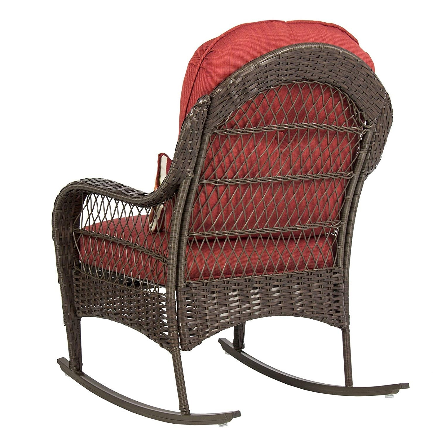 Amazon : Best Choice Products Wicker Rocking Chair Patio Porch Within Latest Used Patio Rocking Chairs (View 10 of 15)