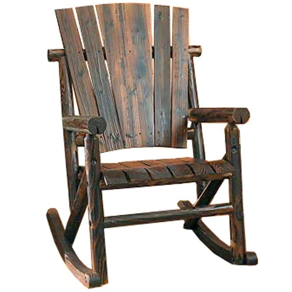 Amazon : Char Log Single Rocker : Rocking Chairs : Garden & Outdoor Pertaining To Best And Newest Char Log Patio Rocking Chairs With Star (View 2 of 15)