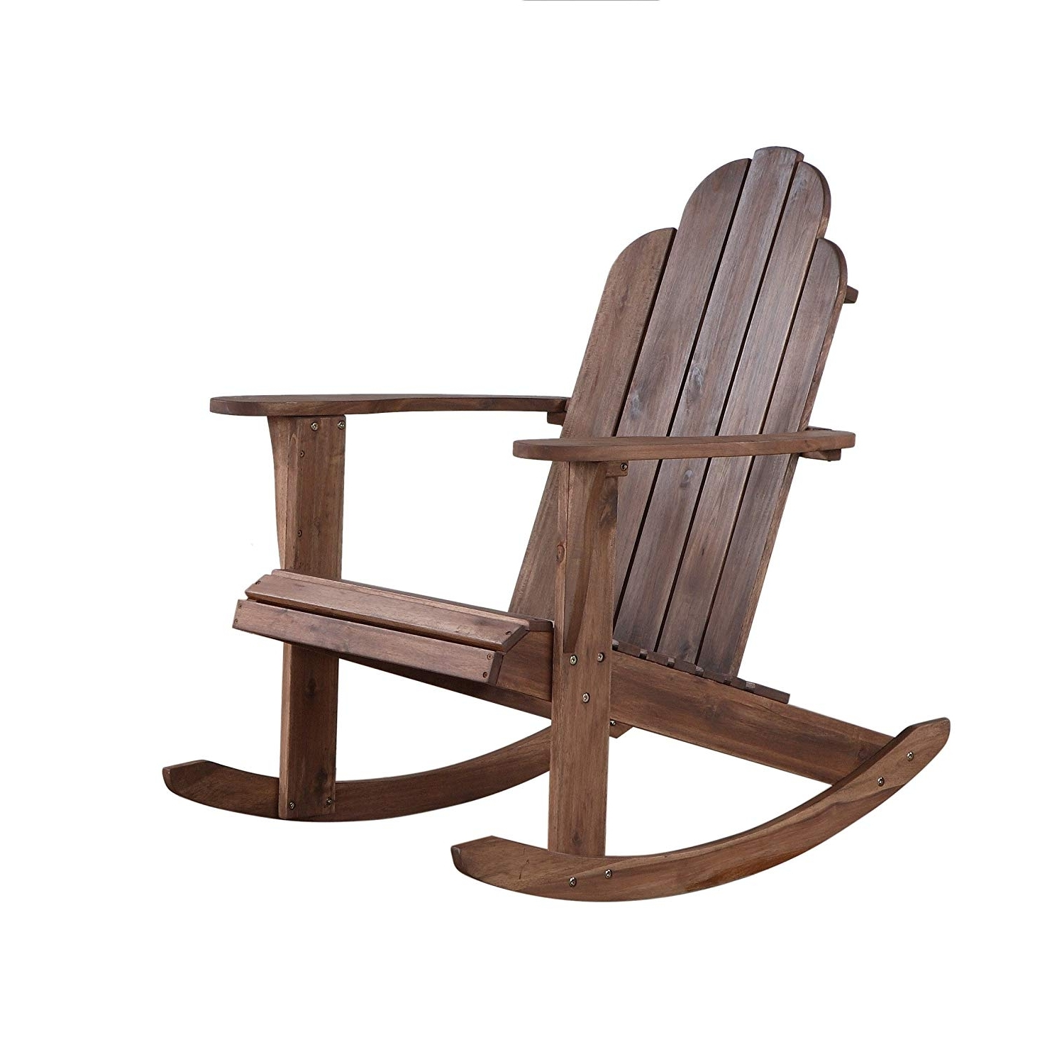 Amazon: Linon Woodstock Rocking Chair, Teak: Kitchen & Dining With Regard To Famous Teak Patio Rocking Chairs (View 14 of 15)