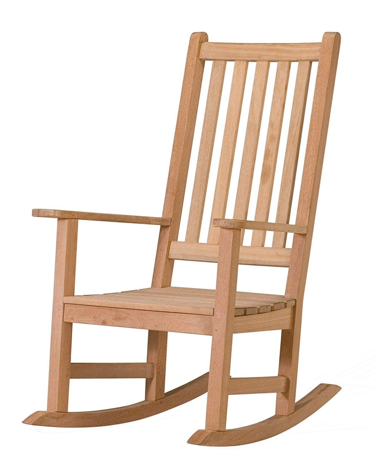 Amazon : Oxford Garden Franklin Shorea Rocking Chair : Patio Within Most Current Outdoor Rocking Chairs (View 2 of 15)