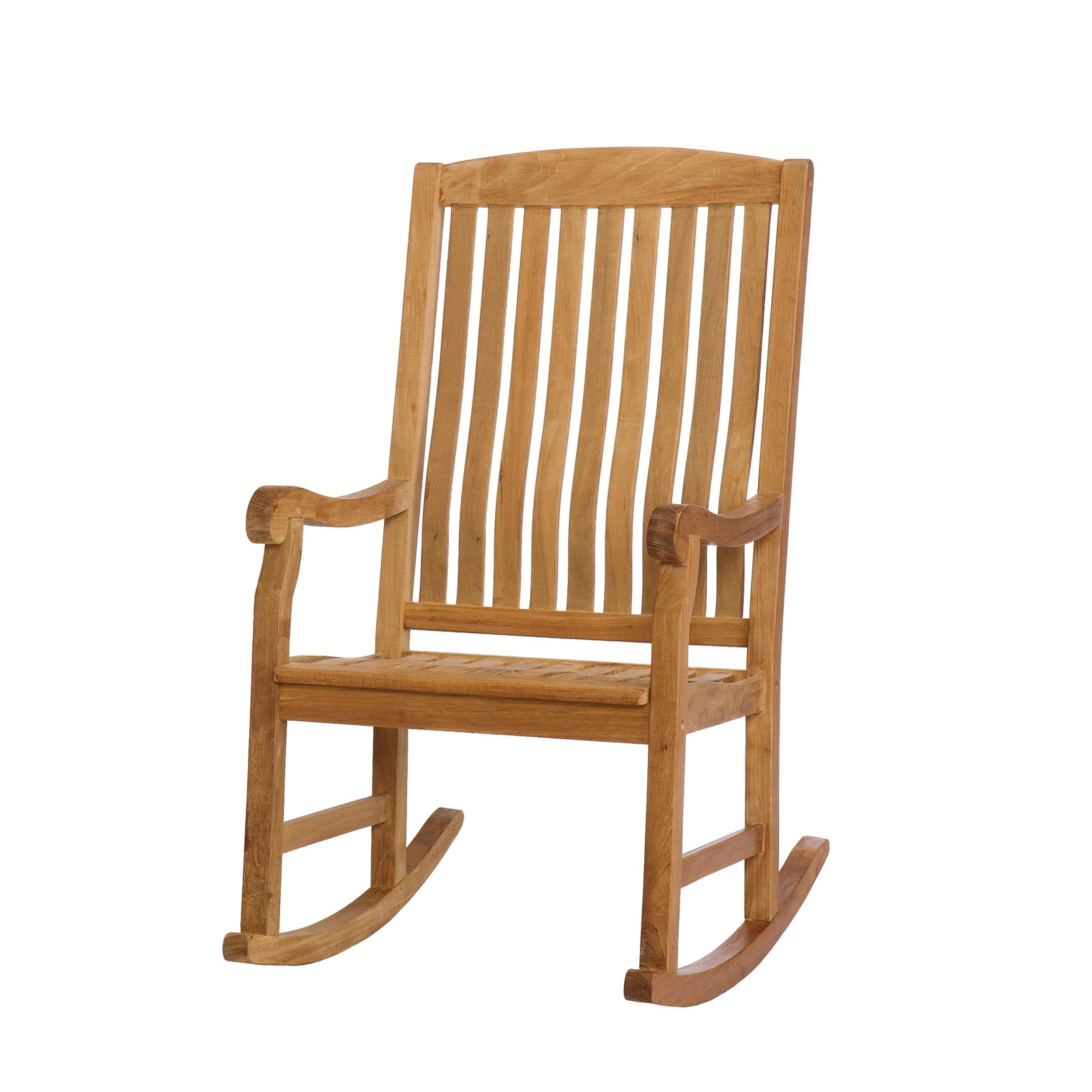 Amazon: Sei Southern Enterprises Teak Wood Porch Rocking Chair With Regard To Most Recently Released Teak Patio Rocking Chairs (View 4 of 15)