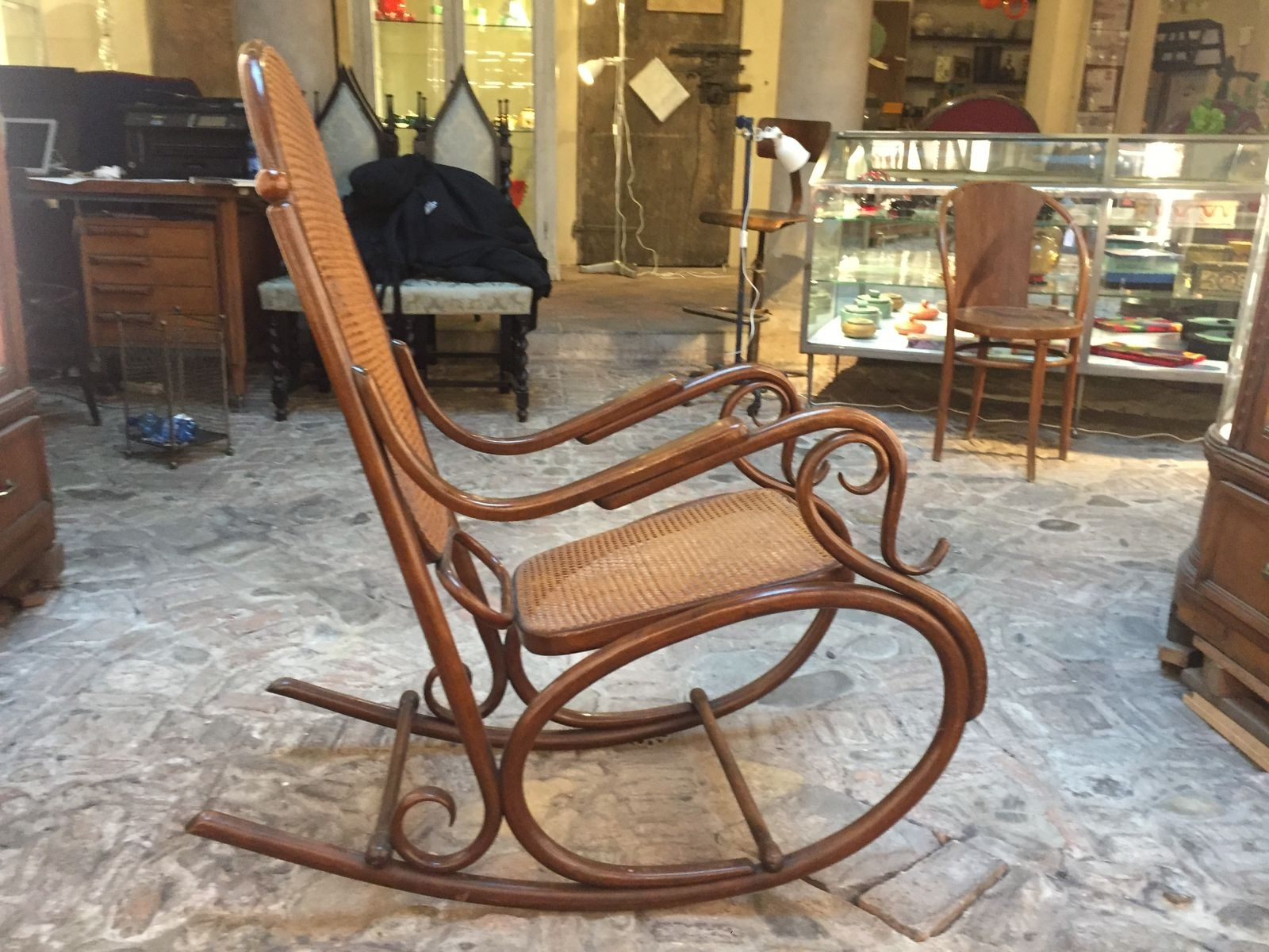Antique Rocking Chair From Thonet For Sale At Pamono Regarding Most Recent Antique Rocking Chairs (View 2 of 15)
