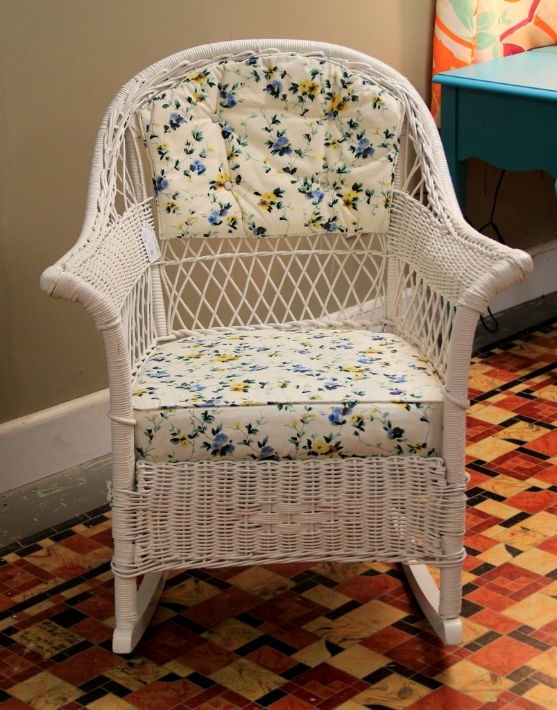 Antique Wicker Rocking Chair (View 2 of 15)