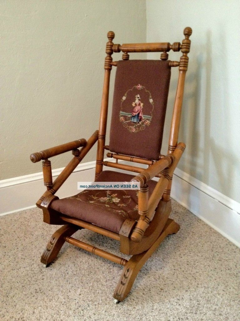 Antique Wicker Rocking Chairs With Springs In Fashionable Antique Platform Rocking Chairs (View 3 of 15)