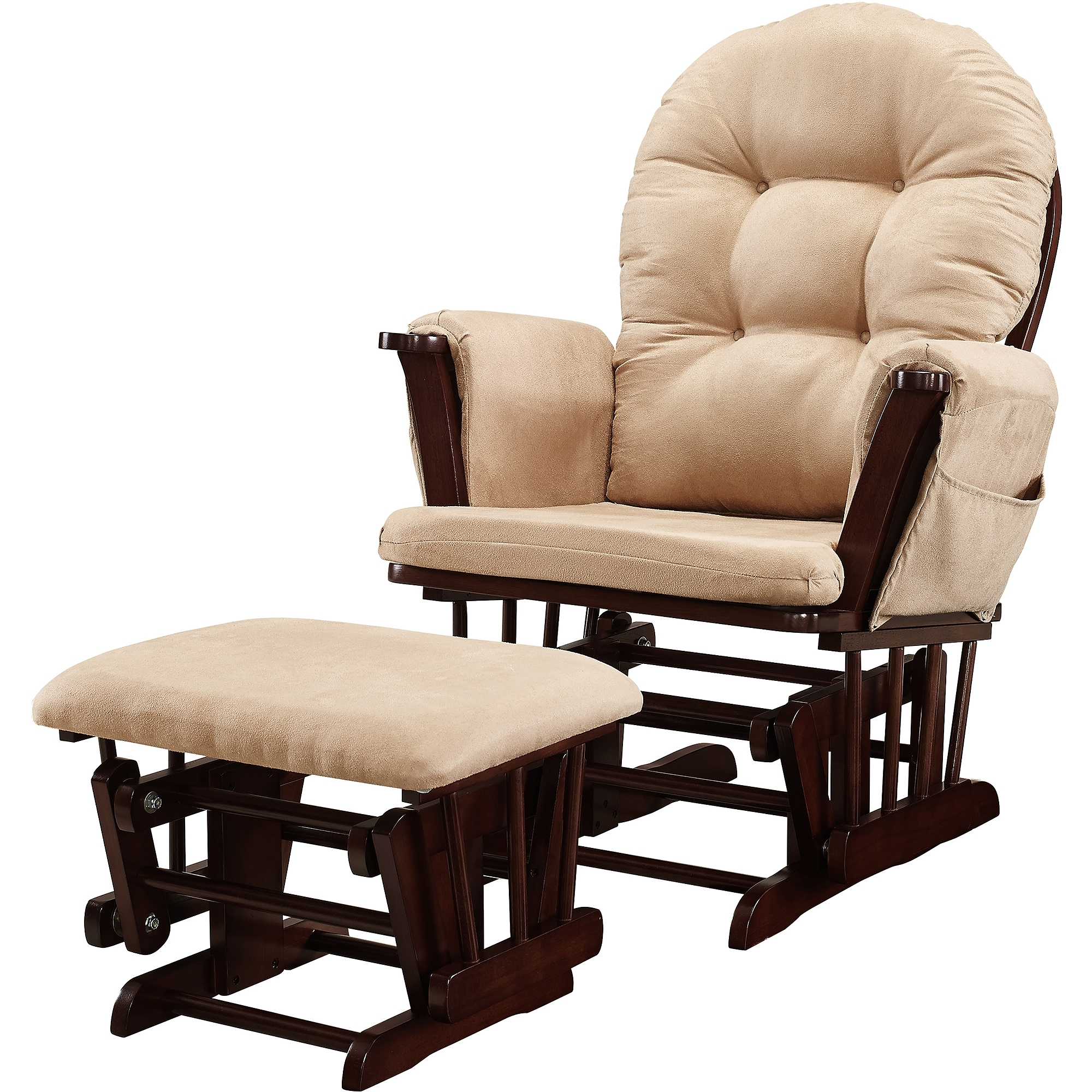 Baby Relax Abby Rocker Gray – Walmart Pertaining To Well Known Patio Rocking Chairs With Ottoman (View 3 of 15)