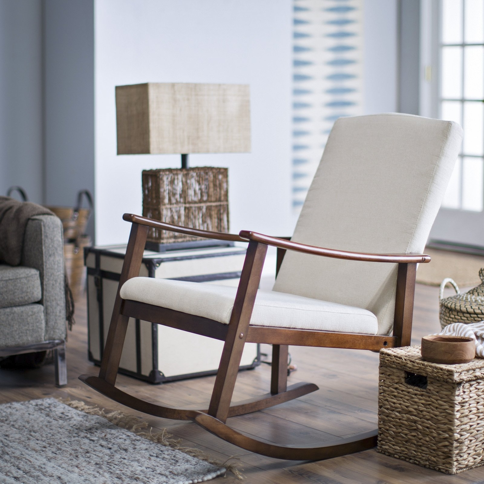 Belham Living Holden Modern Indoor Rocking Chair – Upholstered Regarding Most Current Rocking Chairs For Living Room (View 2 of 15)
