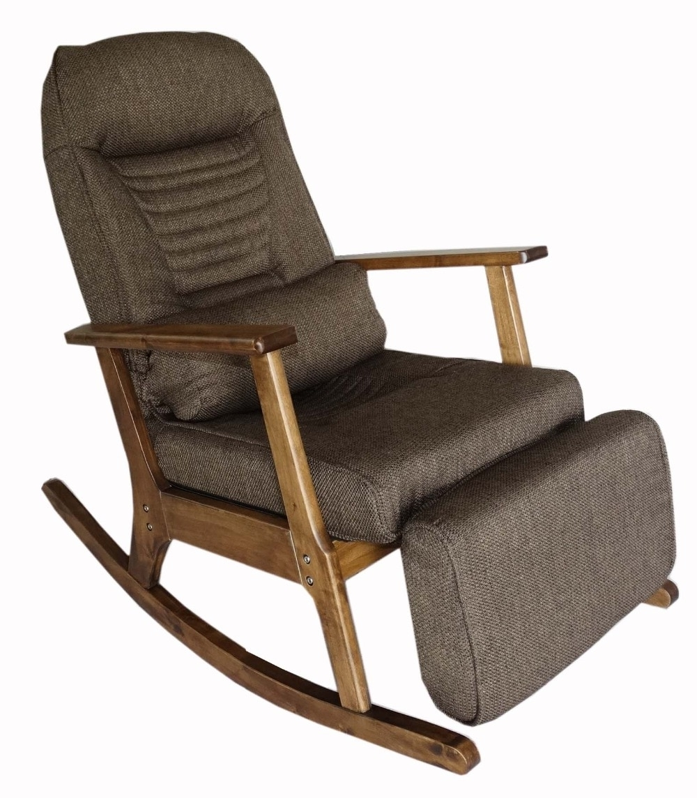 Best And Newest Garden Recliner For Elderly People Japanese Style Armchair With Intended For Rocking Chairs With Footstool (View 2 of 15)