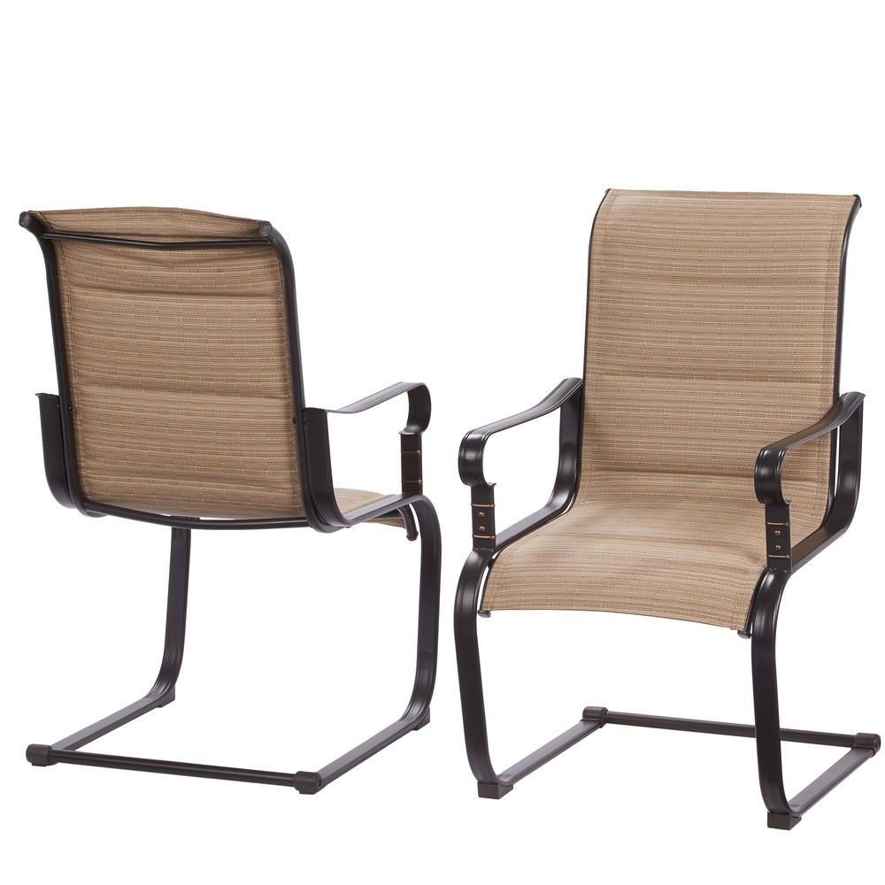 Best And Newest Padded Patio Rocking Chairs Regarding Hampton Bay Belleville Rocking Padded Sling Outdoor Dining Chairs ( (View 1 of 15)