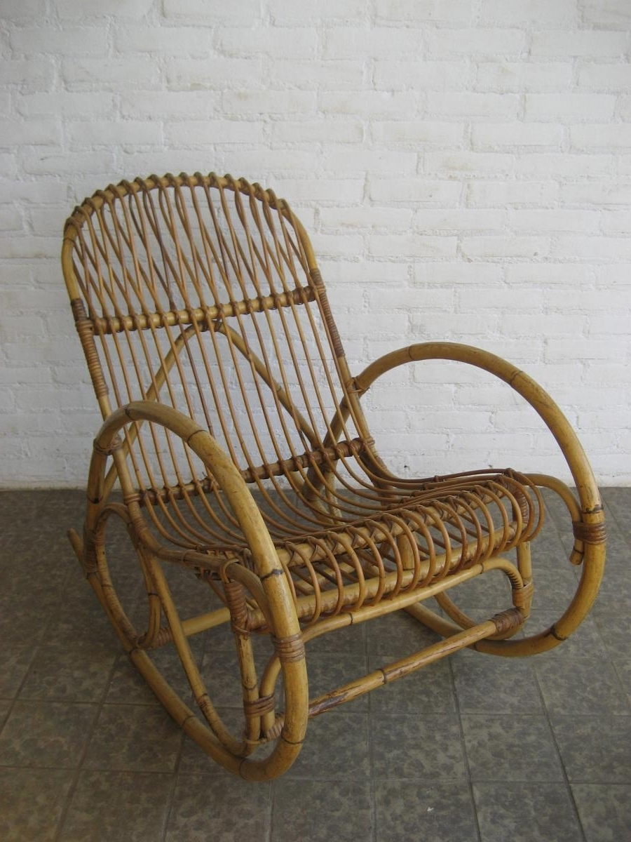 Best And Newest Rattaning Chair Antique Best Home Decoration Cushions Outdoor Chairs Within Vintage Wicker Rocking Chairs (View 11 of 15)