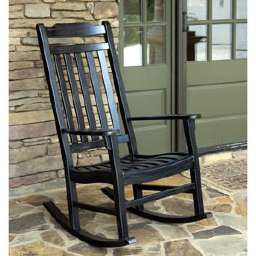 Black Patio Rocking Chairs Regarding Most Recently Released Chair (View 3 of 15)