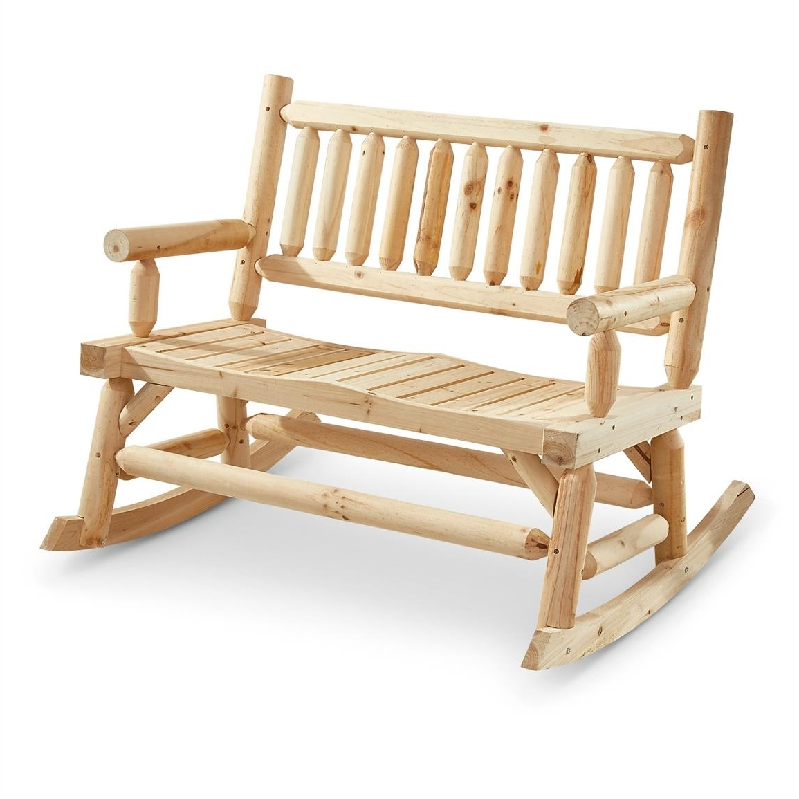 Castlecreek 2 Seat Wooden Rocking Bench – 657798, Patio Furniture At Inside Most Up To Date Patio Furniture Rocking Benches (View 3 of 15)