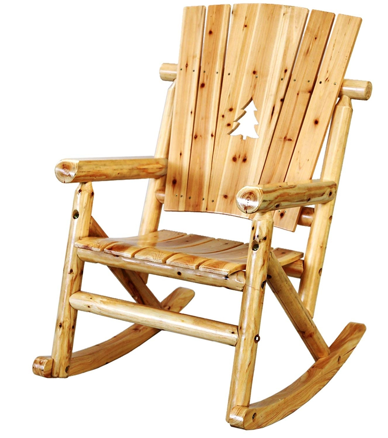 Char Log Patio Rocking Chairs With Star Pertaining To Fashionable Amazon: Leigh Country Tx 95100 Aspen Single Rocker: Garden & Outdoor (View 9 of 15)