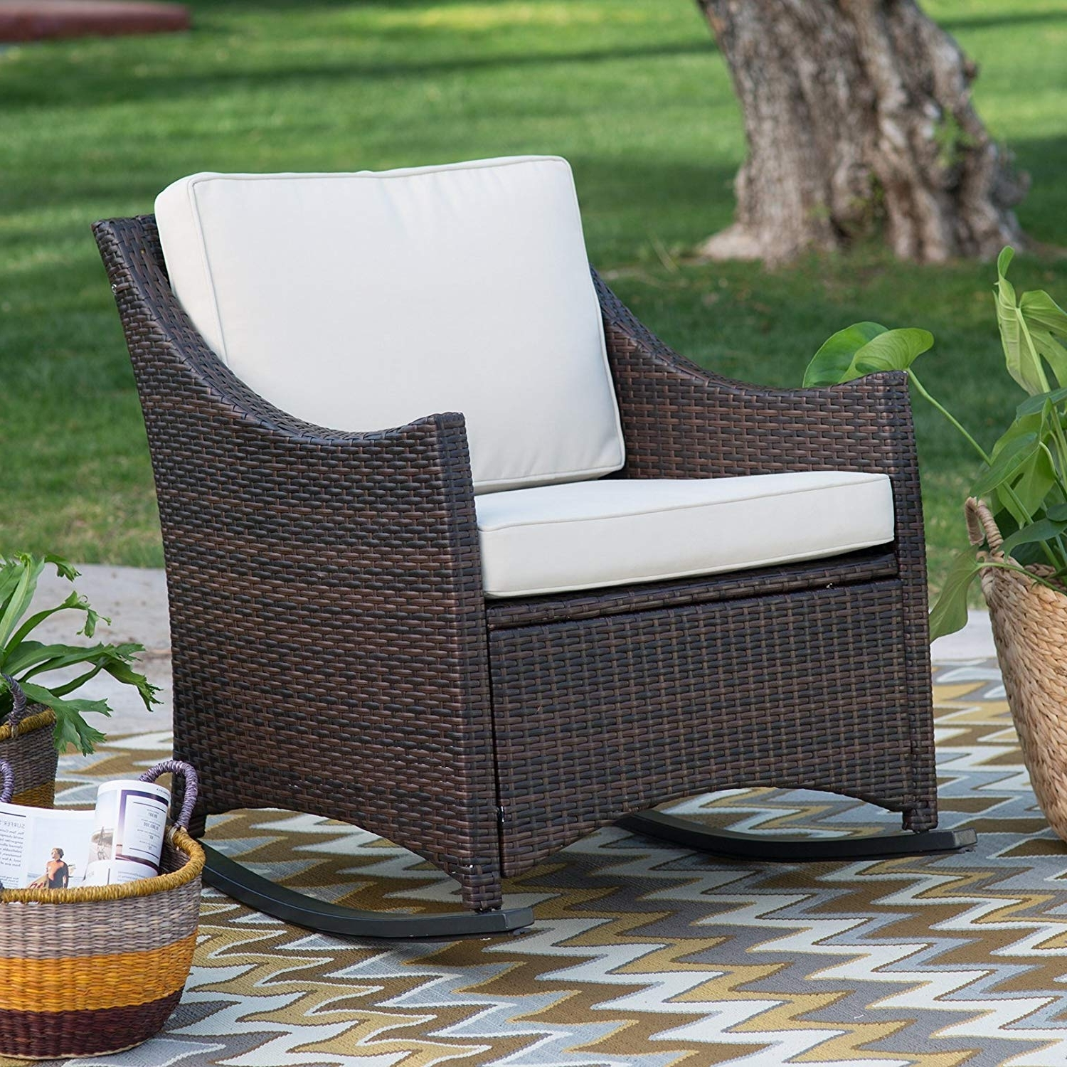 Cheap Dark Brown Wicker Chair, Find Dark Brown Wicker Chair Deals On Regarding Best And Newest Brown Patio Rocking Chairs (View 12 of 15)