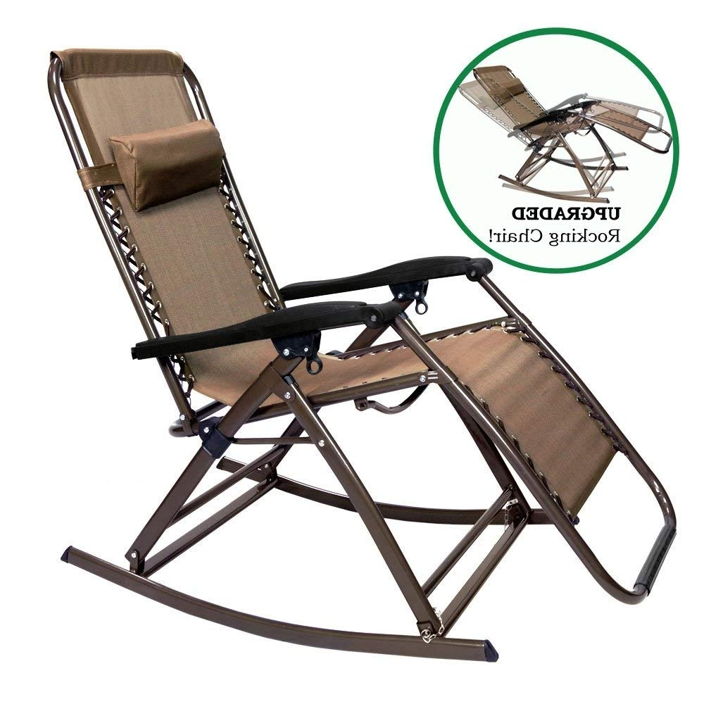 Current Amazon : Partysaving Infinity Zero Gravity Rocking Chair Outdoor With Folding Rocking Chairs (View 3 of 15)