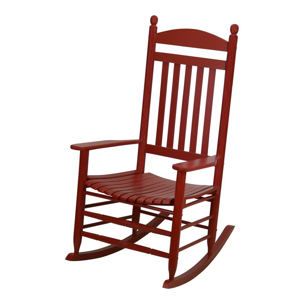 Current Bradley Slat Chili Patio Rocking Chair 200s Chil Rta – The Home Depot Intended For Red Patio Rocking Chairs (View 3 of 15)