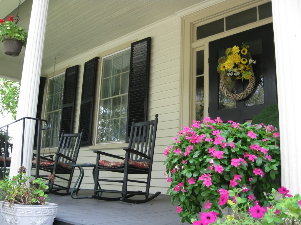 Current Rocking Chairs For Front Porch With Front Porch Rocking Chairs Style — Wilson Home Ideas : How To (View 1 of 15)