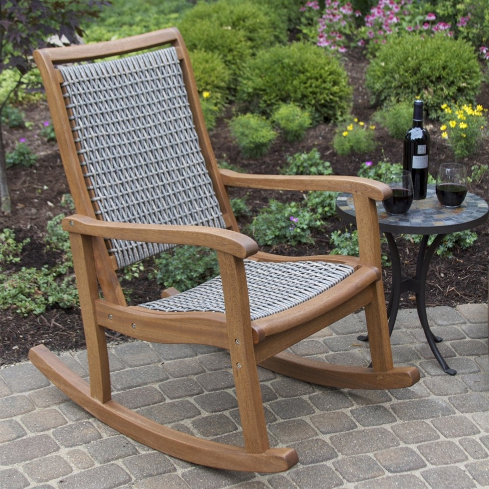 Current Small Patio Rocking Chairs Pertaining To Patio Garden Outdoor Rocking Chair Lowes Center Vegetable Ideas (View 3 of 15)