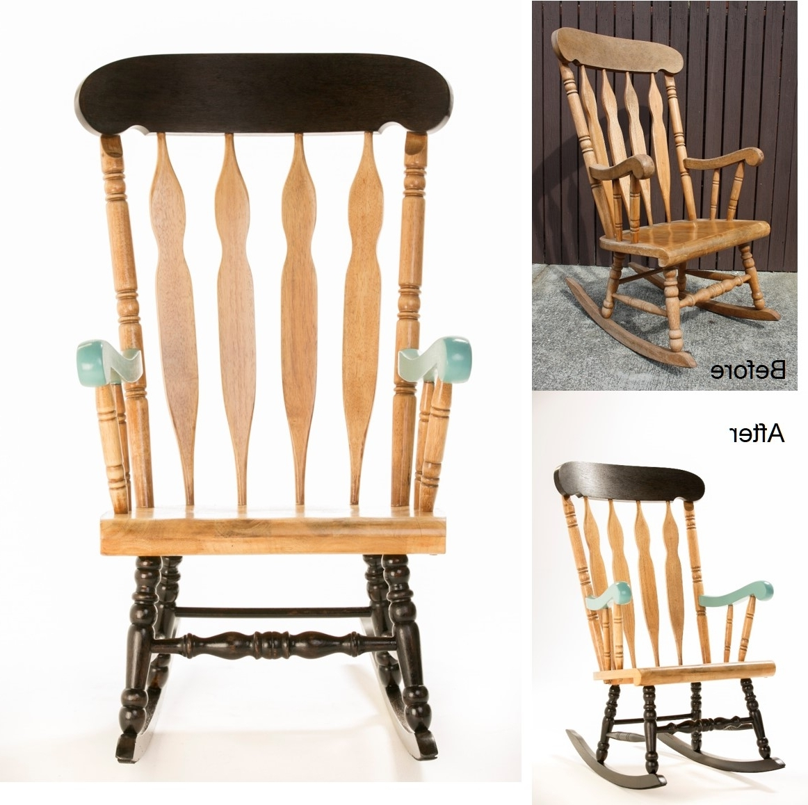 Current Upcycled Rocking Chairs Throughout How To: Upcycle A Timber Rocking Chair – The Interiors Addict (View 6 of 15)