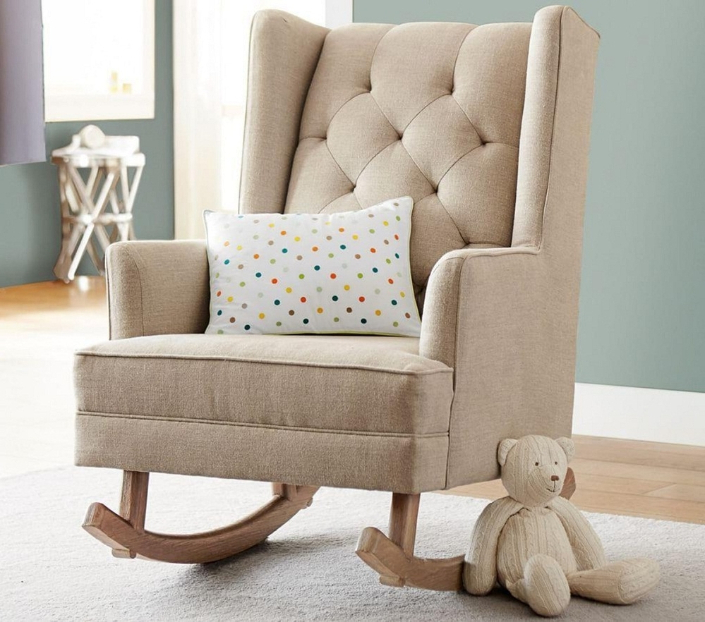 Cute Child's Upholstered Rocking Chair — All Modern Rocking Chairs For Newest Upholstered Rocking Chairs (View 5 of 15)