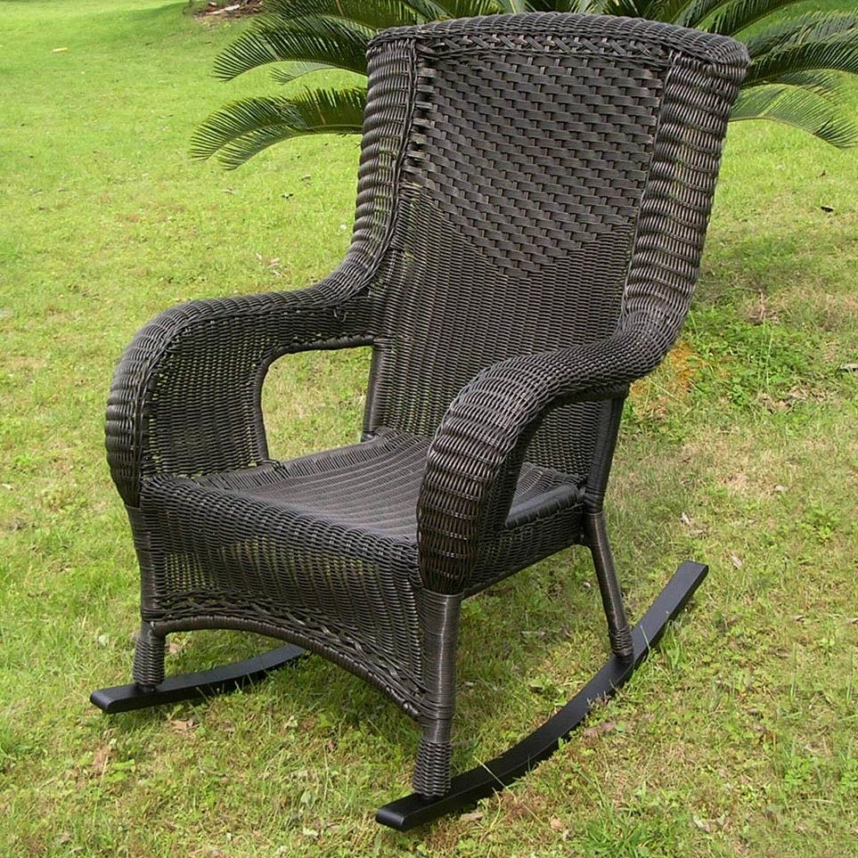 Darby Home Co Wellington Wicker Resin Aluminum High Back Patio With Regard To Best And Newest Resin Patio Rocking Chairs (View 11 of 15)