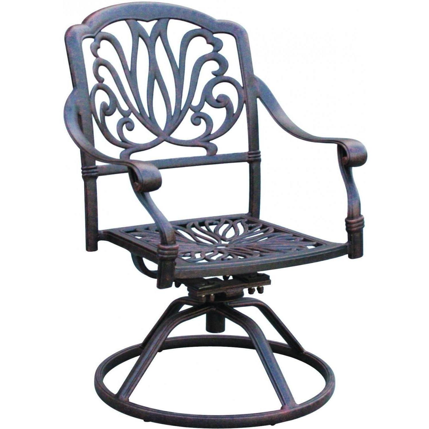 Darlee Elisabeth Cast Aluminum Patio Swivel Rocker Dining Chair For 2018 Aluminum Patio Rocking Chairs (View 7 of 15)