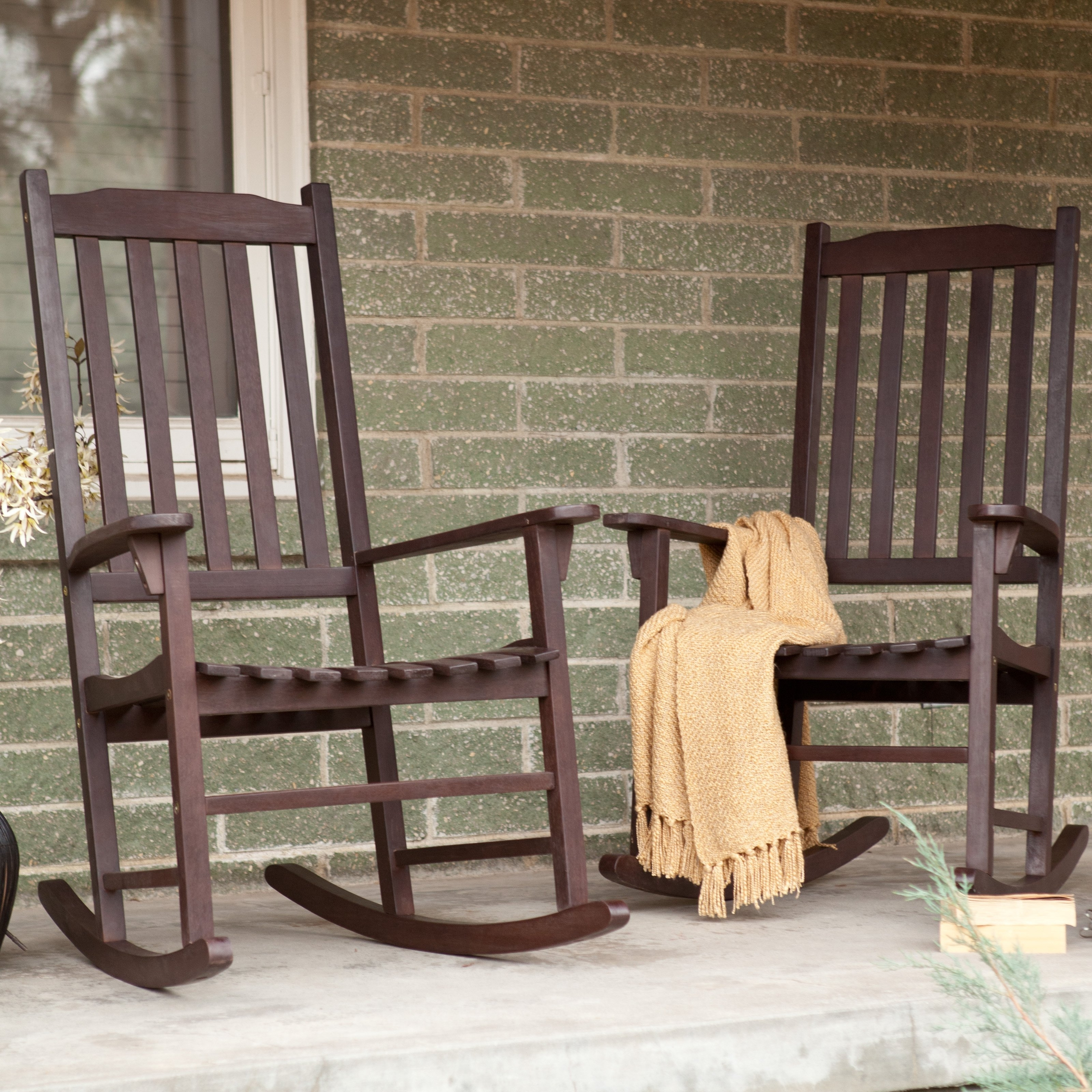 Decorating Black Wicker Rocker Outdoor White Rocking Chairs For For Most Current Rocking Chairs For Outside (View 4 of 15)