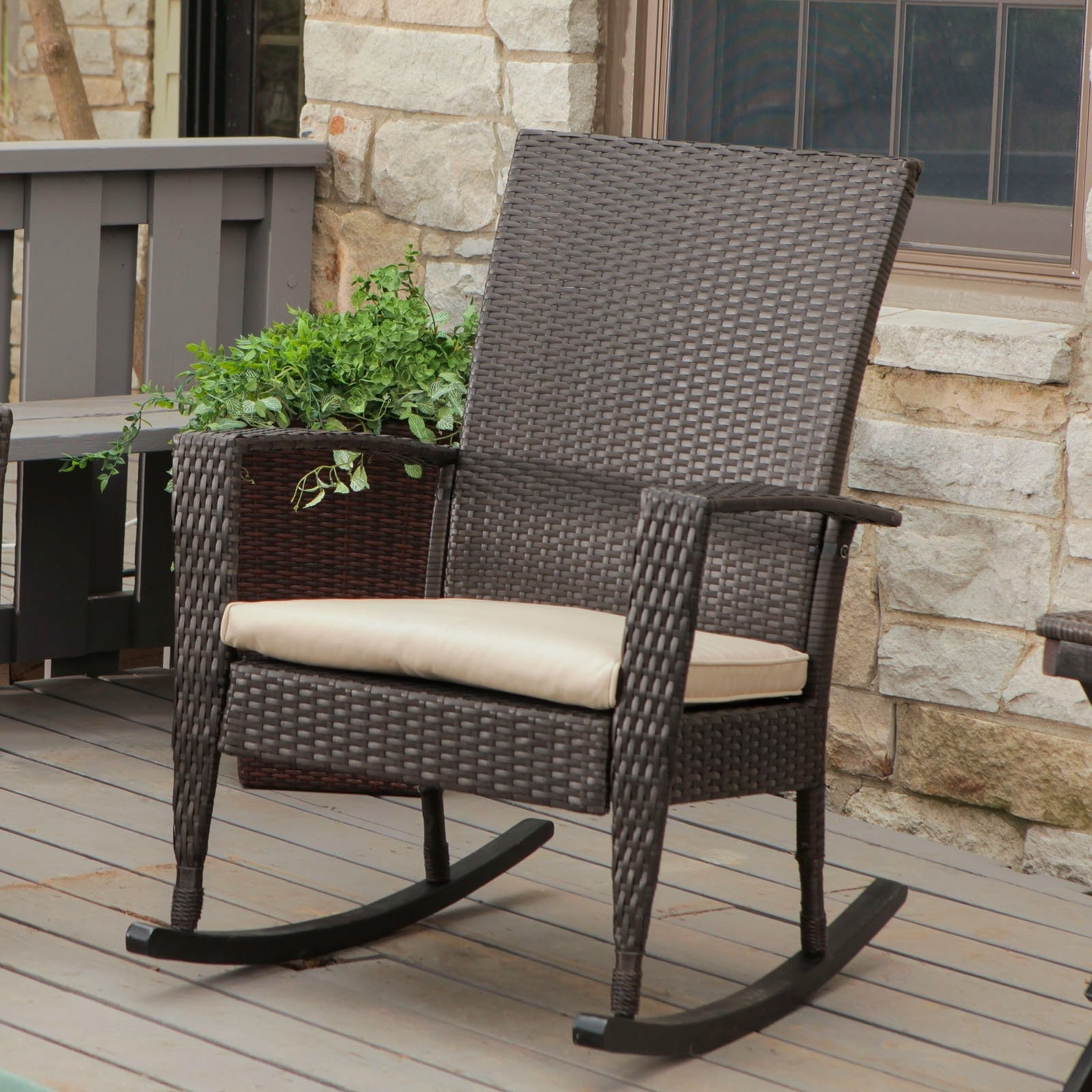 Decorating Modern Lawn Chairs Modern Balcony Furniture Modern Patio Regarding Trendy Patio Rocking Chairs (View 4 of 15)
