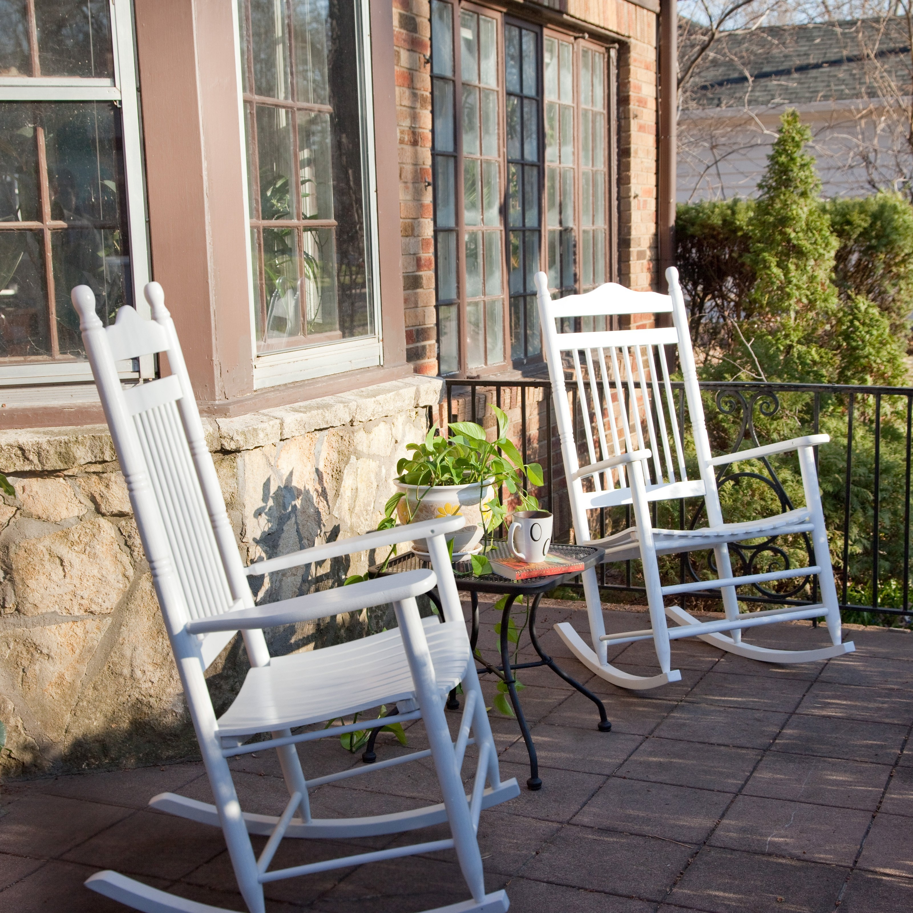 Dixie Seating Indoor/outdoor Spindle Rocking Chairs – White – Set Of Inside Well Known Walmart Rocking Chairs (View 5 of 15)