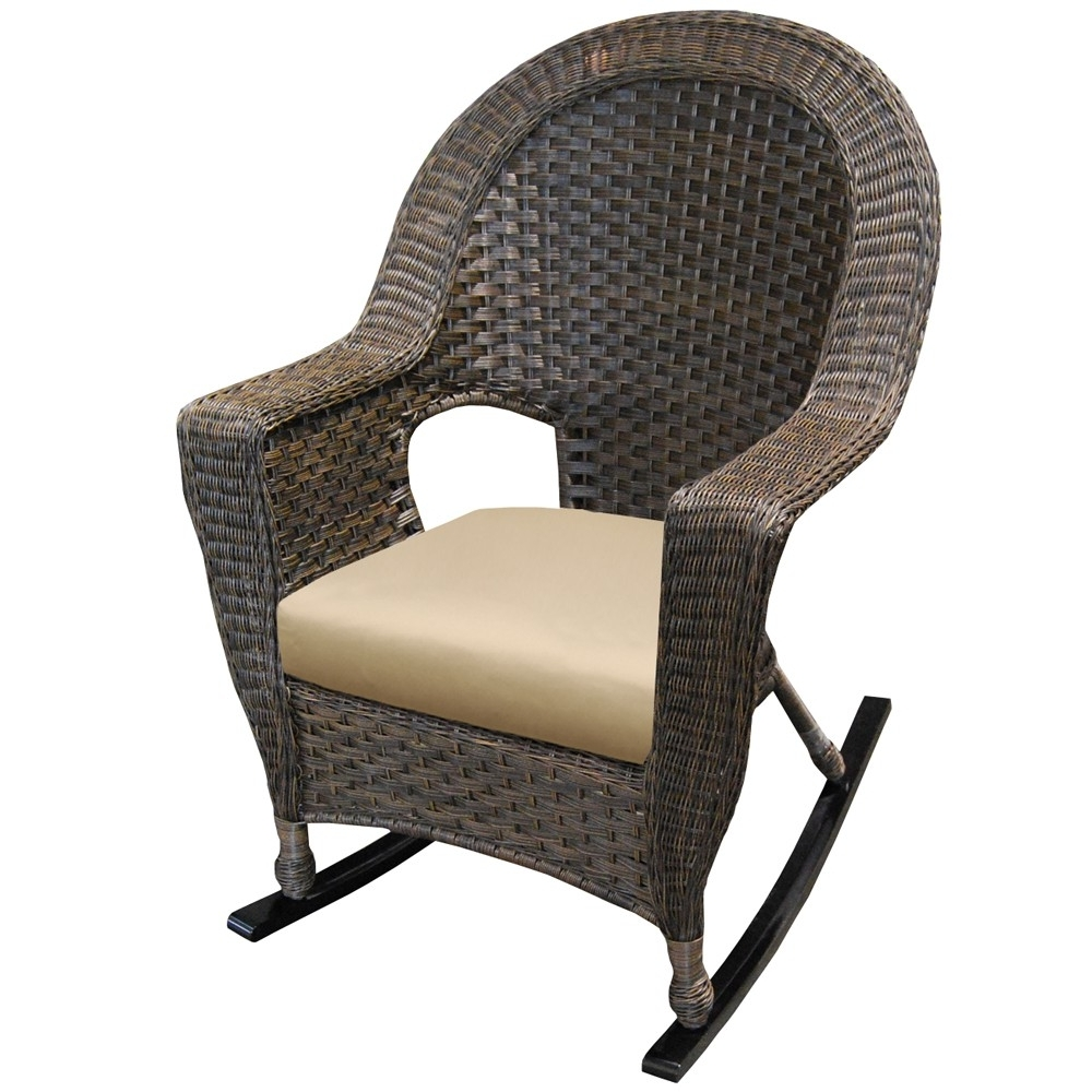 Featured Photo of Wicker Rocking Chair With Magazine Holder