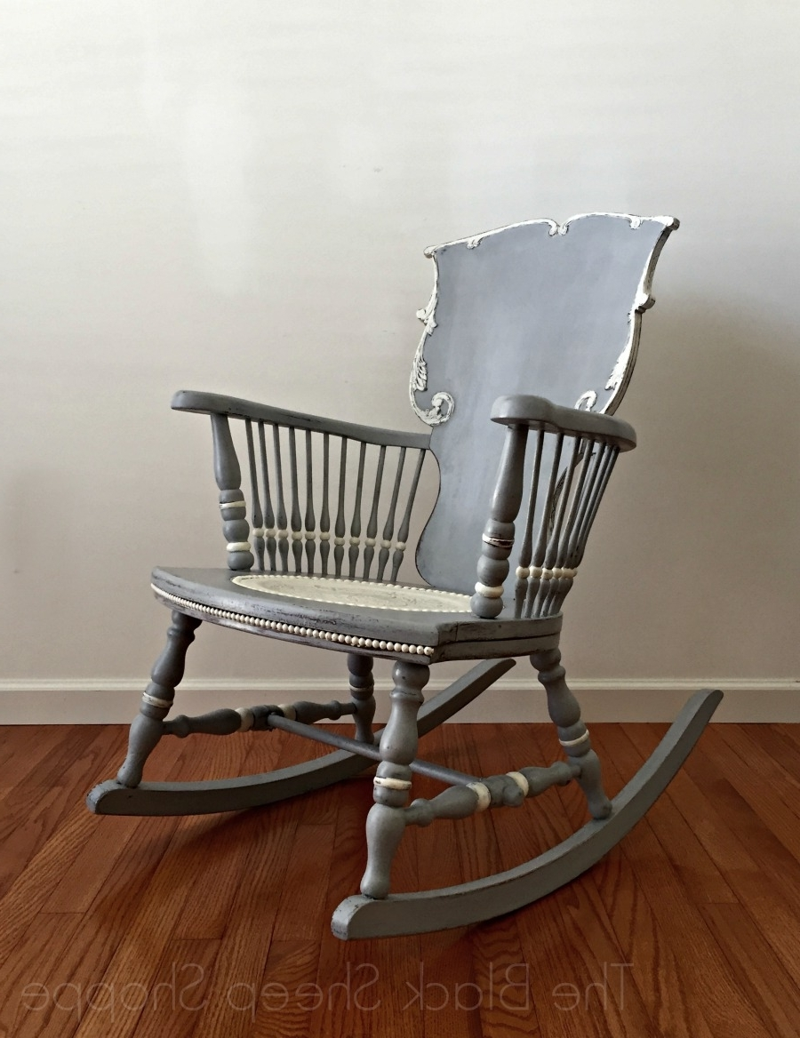 Famous Antique Rocking Chairs With Antique Rocking Chair: Seat Replacement And Painted Finish (View 13 of 15)