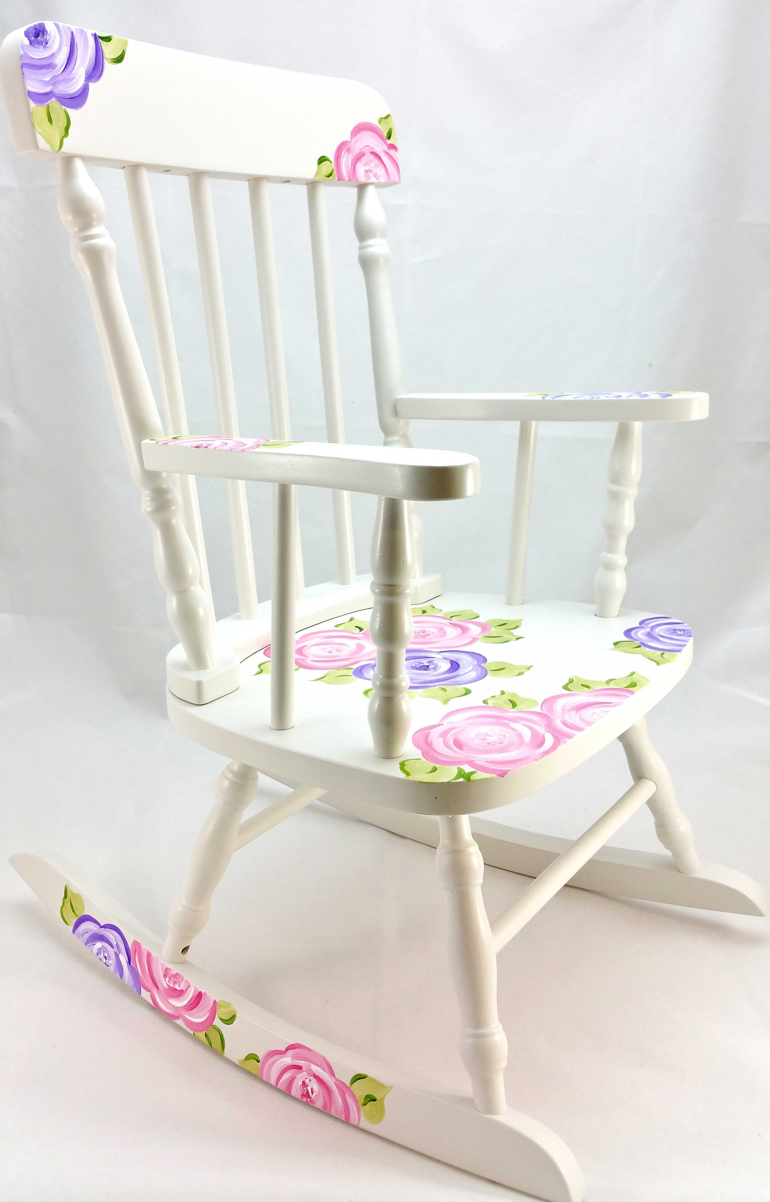 Famous Mod Roses Personalized Rocking Chair – Purple Pumpkin Gifts Throughout Rocking Chairs At Roses (View 14 of 15)