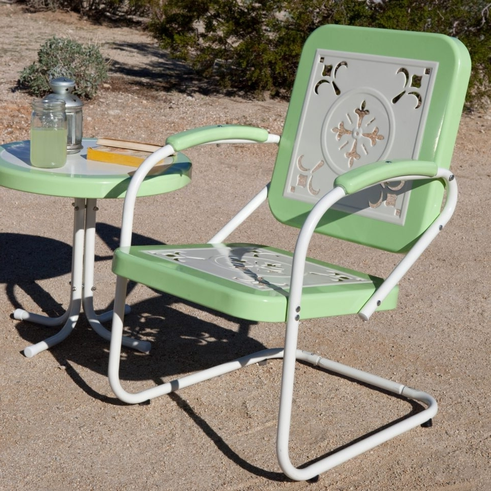 Famous Picture Folding Rocking Lawn Chair Wide Outdoor Chaise Lounge Padded Inside Iron Rocking Patio Chairs (View 4 of 15)